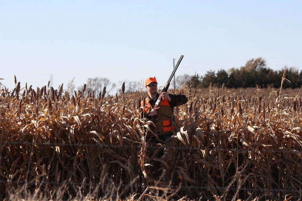 Hunter In Corn
