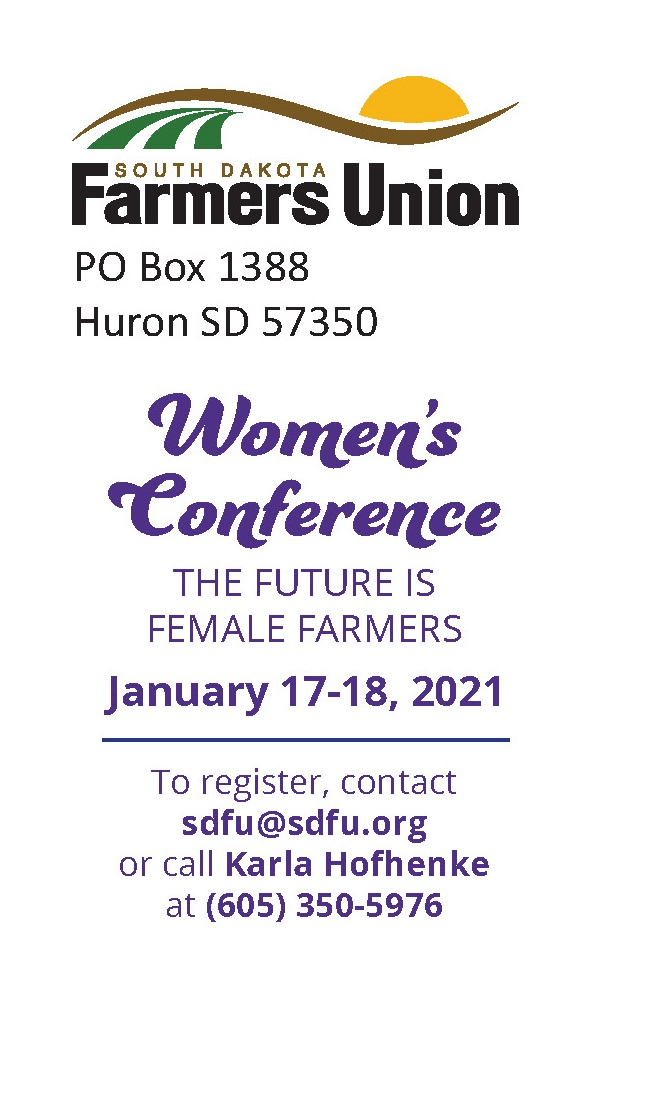 163294 Sd Farmers Union Women's Conference Postcard Page 2
