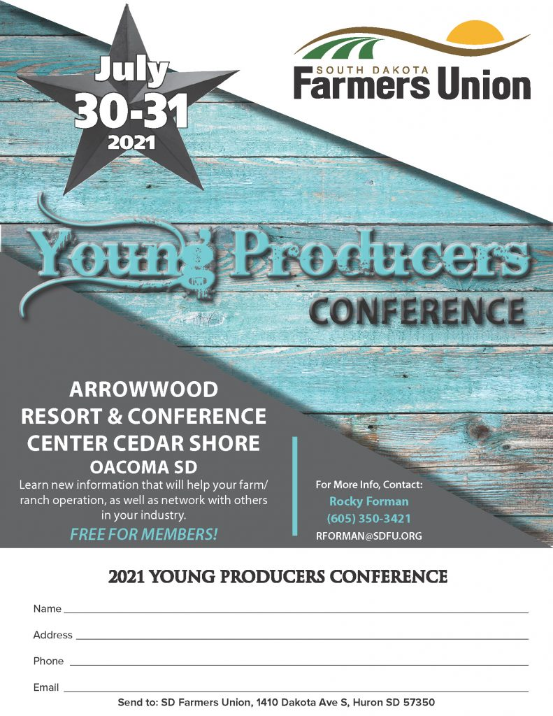 Sdfu Young Producers 8.5x11 Ad 2021